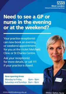 Need to see a GP or  nurse in the evening  or at the weekend?